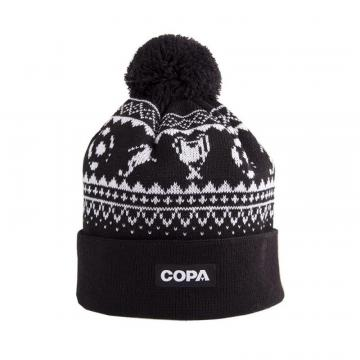 Copa Nordic Knit Beanie Black/White