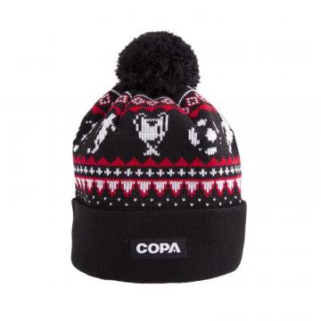 Copa Nordic Knit Beanie Black/Red/White