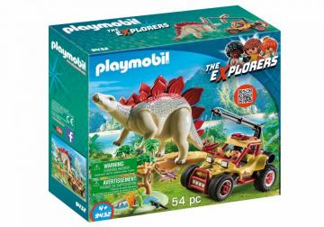 Playmobil 9432 Explorer Vehicle With Stegosaurus