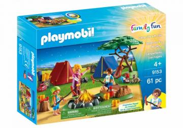 Playmobil 9153 Camp Site with Fire