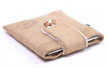 CoverBee Burlap iPad Air Sleeve - Funky Farmer