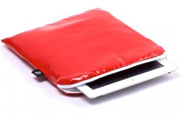 CoverBee iPad Air Sleeve Red Leather – Crystal Creation