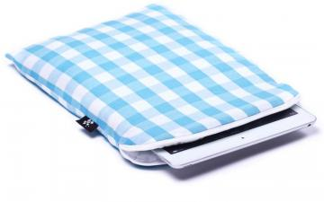 CoverBee Blue checkered iPad Air Sleeve - Heavenly Delight