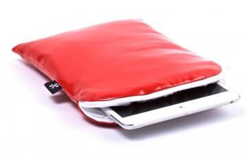 CoverBee iPad mini Sleeve Red Leather – Crystal Creation