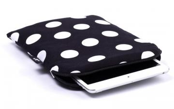 CoverBee Polka dot iPad mini Sleeve - Black Polka