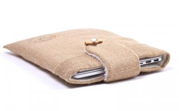CoverBee Burlap Laptop Sleeve - Funky Farmer
