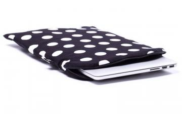CoverBee Polka dot Laptop Sleeve - Black Polka
