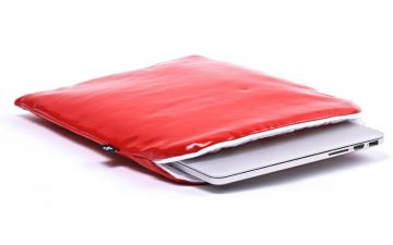 CoverBee Laptop Sleeve Red Leather – Crystal Creation