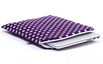 CoverBee Purple laptop sleeve - Happy Flower