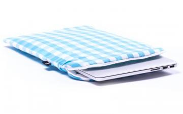 CoverBee Blue checkered Laptop Sleeve - Heavenly Delight