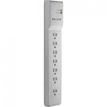 Belkin 7-Outlet Home/Office Surge Protector 2160J $100KCEW 6Ft Cord - White