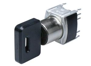 NKK SK12BG13 Key switch, unbeleuchtet, -25 °C, 70 °C