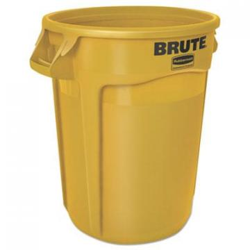 Rubbermaid 2610YELCT Commercial Vented Round Brute Container
