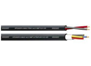 Cordial Speaker cable, matt black, 8 Ω/km, PVC