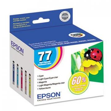 Epson T077920 Cyan; Light Cyan; Light Magenta; Magenta; Yellow Ink Cartridge