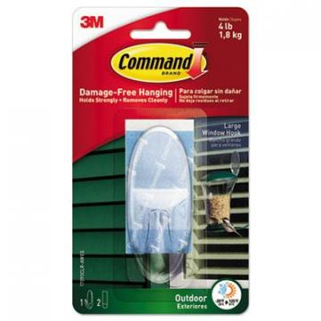 Command 17093CLRAWES All Weather Hooks and Strips