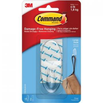 Command 17093CLRES Large Clear Hanging Hooks