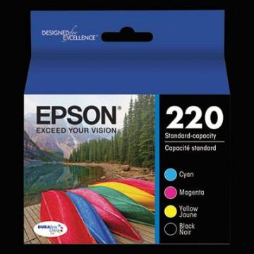 Epson T220120BCS Black; Cyan; Magenta; Yellow Ink Cartridge