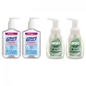 PURELL 9652SSECCT and GOJO Advanced Hand Sanitizer/Hand Soap Kit