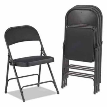 Alera FC97B Steel Folding Chair with Two-Brace Support