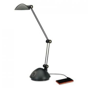 Alera LED912B Twin-Arm Task LED Lamp with USB Port