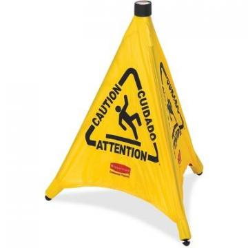 Rubbermaid 9S0000YWCT Multi-Lingual Caution Safety Cone