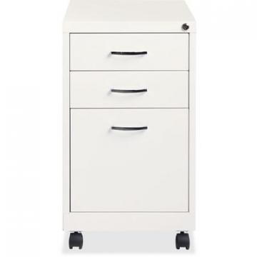 Lorell 21028 White 3-drawer Mobile Pedestal File