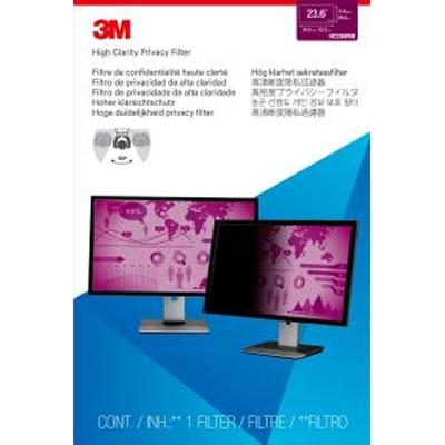 "3m High Clarity Privacy Filter 23.6"" Wide Mon"