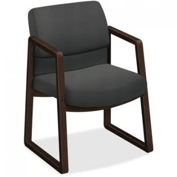 HON 2403MOCHCU19 2400 Series Mocha Hardwood Sled Base Guest Chair