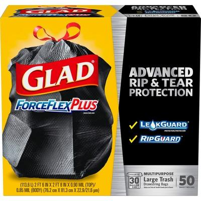 Clorox Glad 78997 ForceFlexPlus Drawstring Large Trash Bags