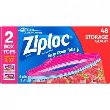 Ziploc 665015CT Double Zipper Quart Storage Bags