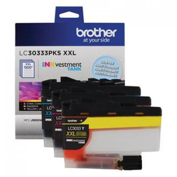 Brother LC30333PKS Cyan; Magenta; Yellow Ink Cartridge