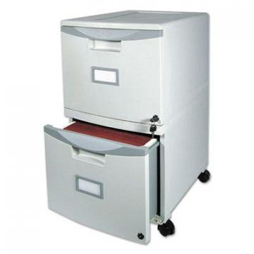 Storex 61310B01C Two-Drawer Mobile Filing Cabinet