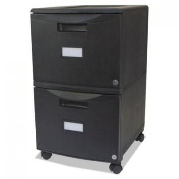 Storex 61312B01C Two-Drawer Mobile Filing Cabinet