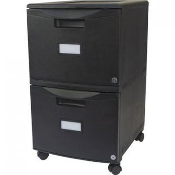 Storex 61312U01C 2-Drawer Locking Mobile Filing Cabinet