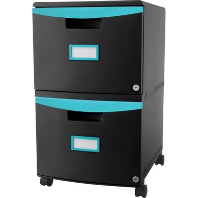 Storex 61315U01C 2-drawer Mobile File Cabinet