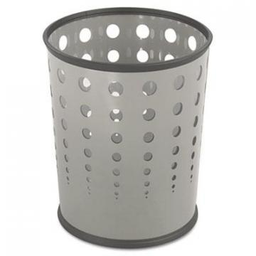 Safco 9740GR Steel Bubble Wastebaskets