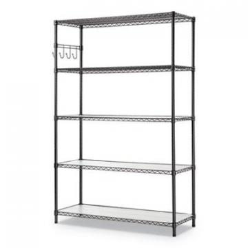 Alera SW654818BA 5-Shelf Wire Shelving Kit with Casters & Shelf Liners