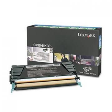 Lexmark C736H1KG Black Toner Cartridge