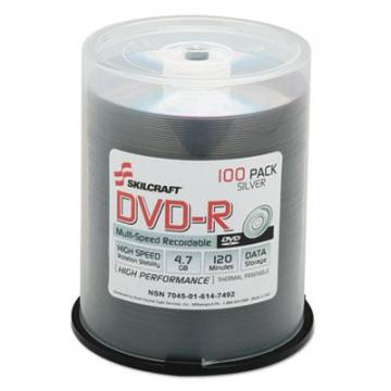 AbilityOne 6147492 4.7GB Spindle DVD-R