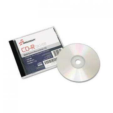 AbilityOne 7045014445160, CD-R Disc, 700MB/80min, 52x, Jewel Case