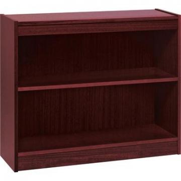 Lorell 60070 Panel End Hardwood Veneer Bookcase