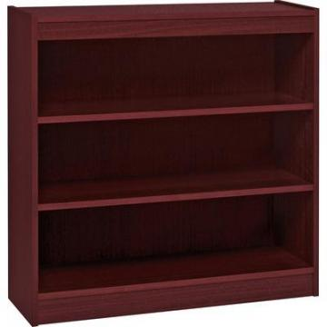 Lorell 60071 Panel End Hardwood Veneer Bookcase