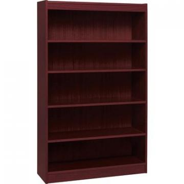 Lorell 60073 Panel End Hardwood Veneer Bookcase