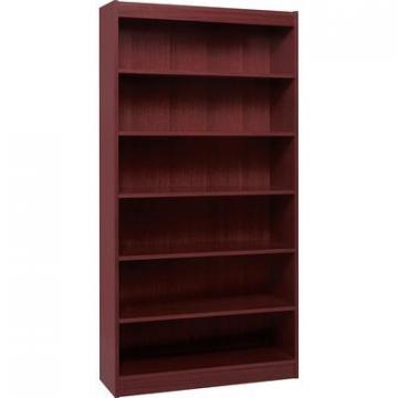 Lorell 60074 Panel End Hardwood Veneer Bookcase