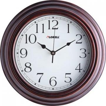 "Lorell 61010 11-3/4"" Antique Design Wall Clock"