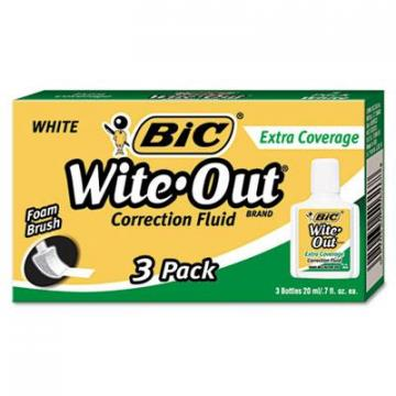BIC WOFEC324 Wite-Out Brand Extra Coverage Correction Fluid