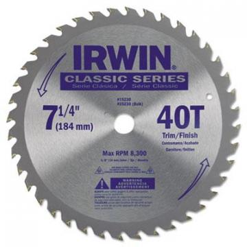 IRWIN Carbide-Tipped Circular Saw Blade 15230ZR