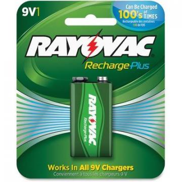 Rayovac PL16041GENE Recharge Plus 9-volt Battery