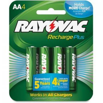 Rayovac PL7154GENECT Recharge Plus AA Batteries